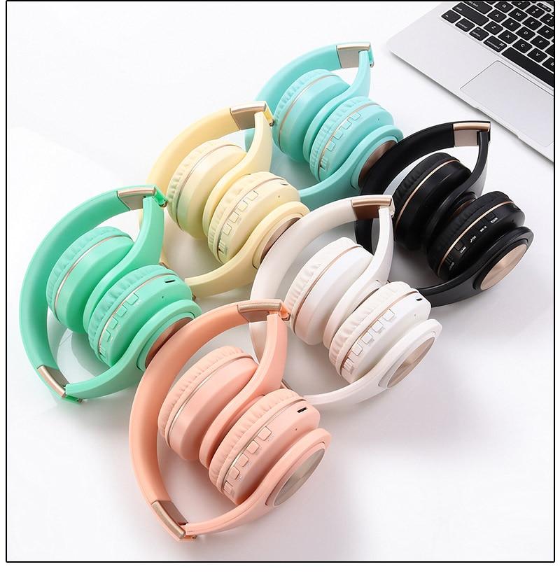 Bright Colored Folding Wireless Headphones