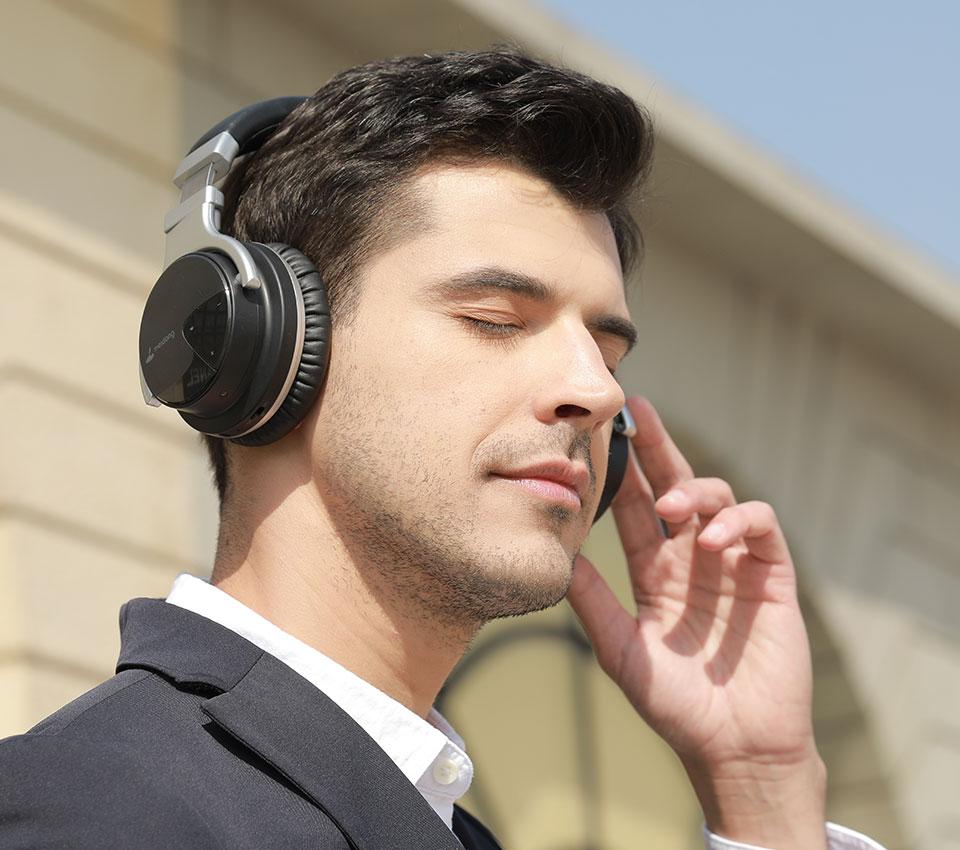 Meidong E7 Active Noise Cancelling Wireless Headphones